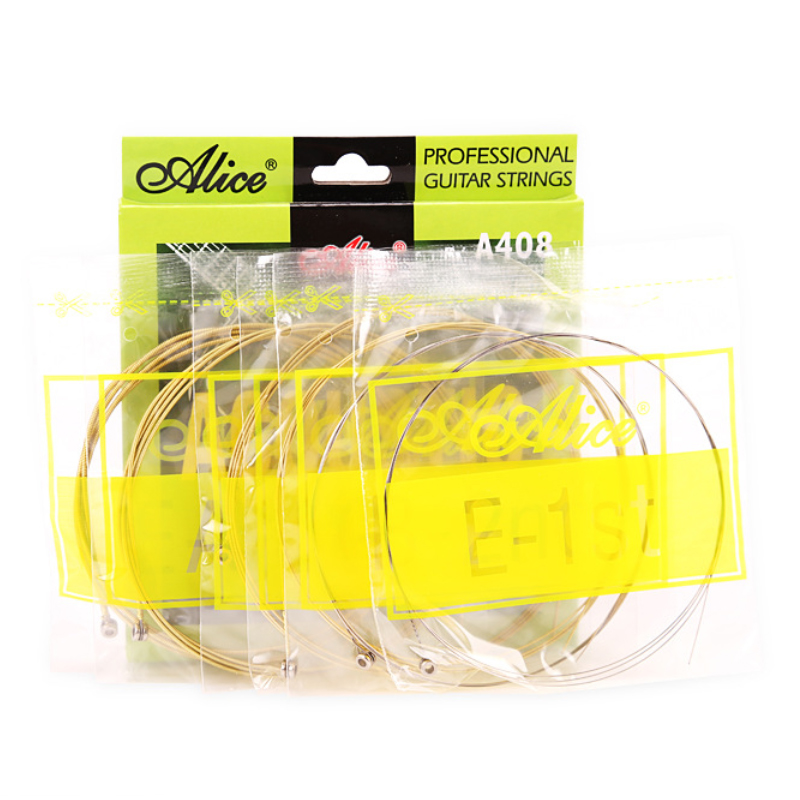 Wholesale 12 sets lot Alice A408 L Acoustic Guitar Strings Light 6 string Set in Guitar Parts Accessories from Sports Entertainment