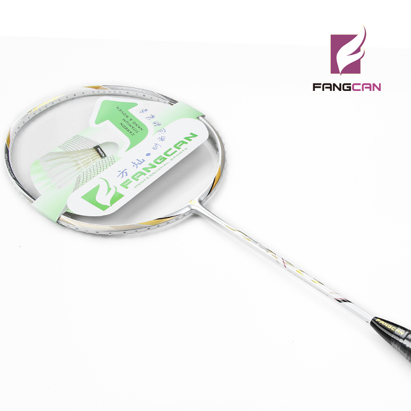 5pcs/lot 100% Carbon FANGCAN TB NANO C7 Defensive Type Badminton Racket With String White Color Nano Technology Racquet