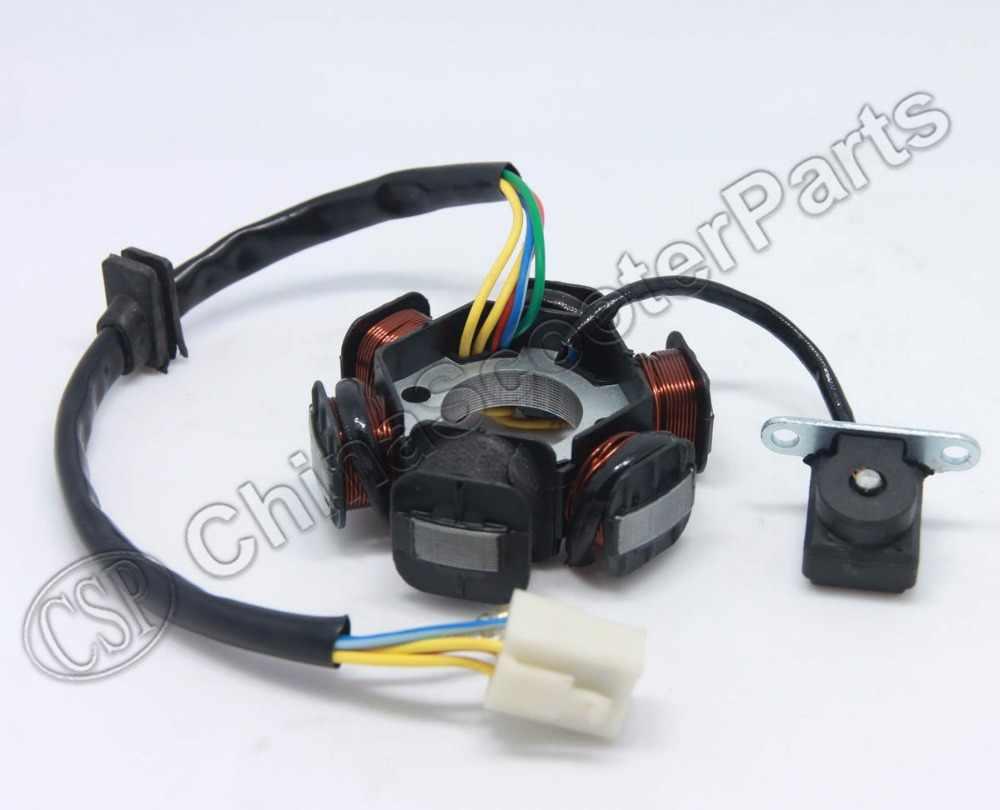 small resolution of  magneto stator 6 pole coil 5 wire 50cc 70cc 90cc 110cc 125cc lifan zongshen loncin xmotos