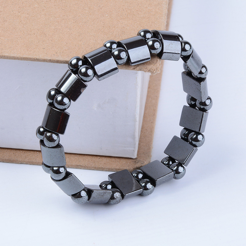 Magnetic Hematite Stretch Bracelets Weight Loss Black Magnetic Therapy Bracelet Health Care SN-Hot shoes and more сандалии
