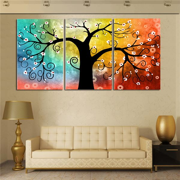 5x Oil Paintings Modern Framed Giclee Canvas Print Artwork f// Home Decor
