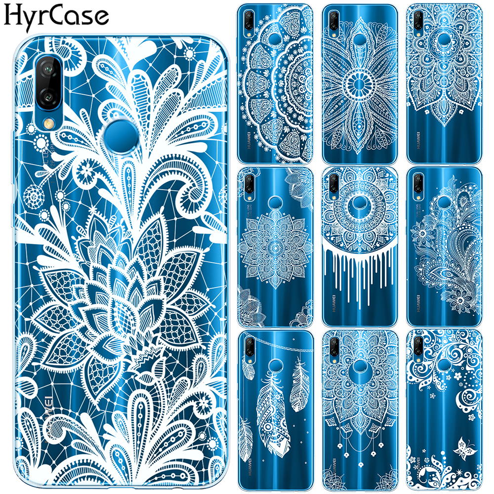 Lace Flower Soft TPU Case For Coque Huawei P8 P20 Lite Pro 2018 Y9 2018 <font><b>Sexy</b></font> Floral Cover For Funda Huawei <font><b>Mate</b></font> 10 <font><b>20</b></font> Lite Pro image