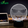 Interesting Expression 3D LED Kids Night Light USB Touch Lamp With Cool Sunglasses Lights Baby Sleeping