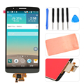 Grey For LG G3 D850 D855 LCD Display Touch Screen Digitizer+Adhesive+Tools Assembly Replacements Part Free Shipping+Tracking No