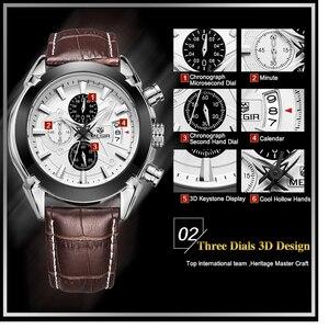Image 5 - Relogio masculino megir 캘린더 크로노 그래프 밀리터리 시계 남성 캐주얼 스포츠 정품 가죽 시계 시간 시계 남성