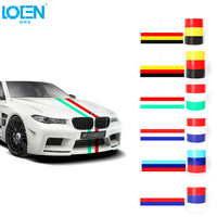 LOEN 5M Car Stickers Flag On Cars Auto Walls Window Decals Car Styling Accessories For BMW