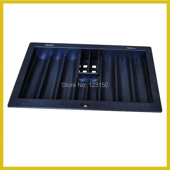 TA-201 Black chip tray for 350pcs poker chips and two playing cards, poker table accessories