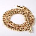 JFY Nuevo Hacia Fuera Helado Collar de Moda Juego de Los Hombres de HIPHOP de La Joyería comercio al por mayor 18 K Oro Collar de Cadena Cubana Pulsera Africana conjuntos