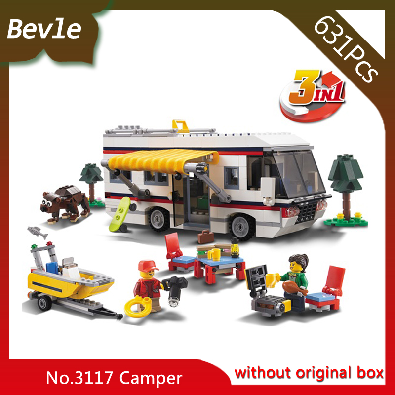 Doinbby Store  3117 631Pcs 3in1 Deformation Series Wagon yacht villa Model Building Blocks Bricks Children For Toys Decool doinbby store  16012 2075pcs movie