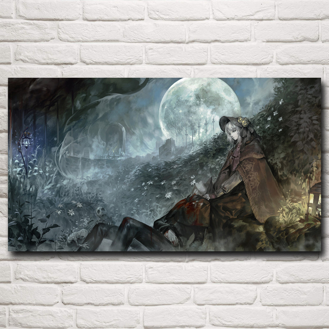 Bloodborne Artwork Video Games Art Silk Fabric Poster Prints Home Wall Decor Painting 11×20 16×29 20×36 Inches Free Shipping