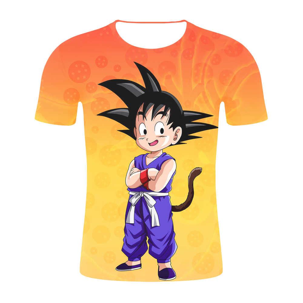 2019 футболки Dragon Ball Z мужские летние футболки с 3D принтом супер сайян Сон Гоку черный Вегета Битва Драконий мяч Повседневная футболка Топы футболки