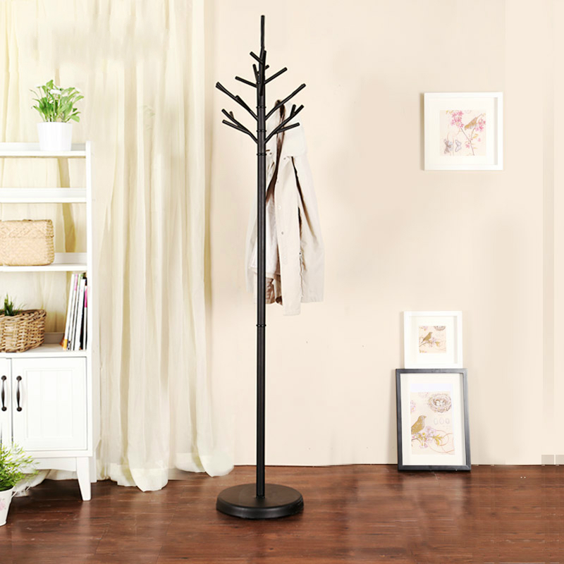 Iron coat rack floor bedroom clothes hanger European fashion coat rack simple iron clothes hangers coat