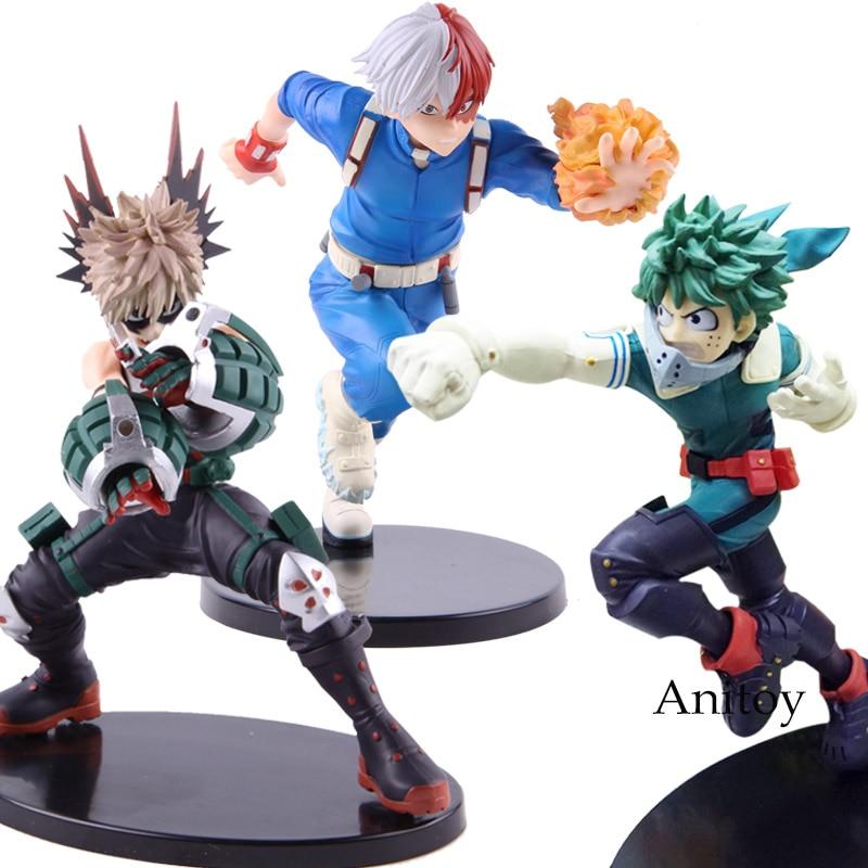 Us 6 14 20 Off Anime Boku No Hero Academia Action Figure My Hero Academia Katsuki Bakugo Izuku Middria Shoto Todorki Model Toys Gift For Kids In