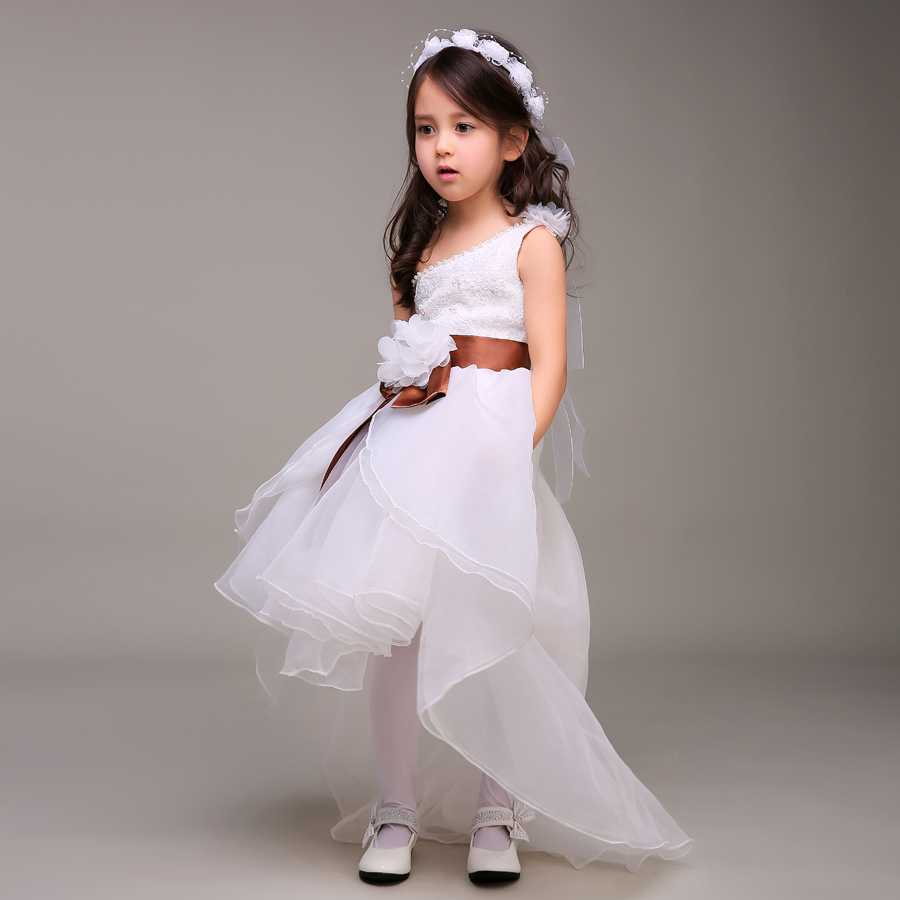 a7c8237f8e Winter Flower Dresses For Weddings Lace Little S Pageant