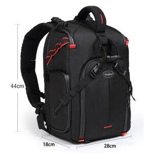 Image 3 - Jealiot сумка для фотоаппарата фоторюкзак рюкзак для фотоаппарата фотосумка чехол сумка для камеры Dslr водонепроницаемый рюкзак для ноутбука цифровой роликовый слинг с чехлом перегородка для Canon Panasonic Nikon Sony