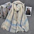 2015 the latest  joker pattern of blue and white porcelain shawls scarf Fashion style.  nice looking cotton scarf