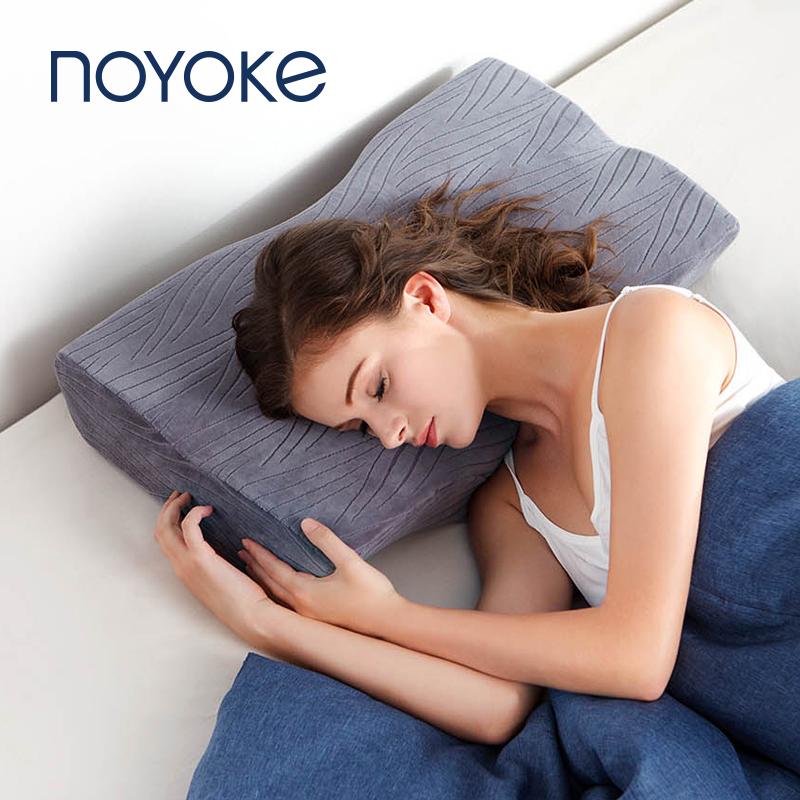 Noyoke Memory Foam Pillows Soft Bed Pillow Slow Response Cervical Protect Eyelash Orthopedic Pillows for Sleeping