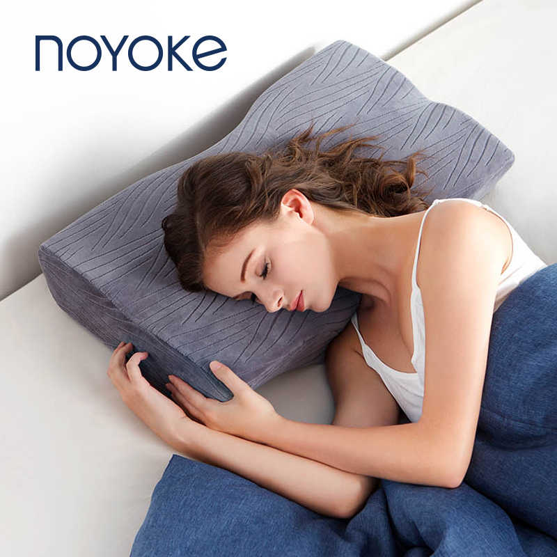 Noyoke Memory Foam Pillows Soft Bed Pillow Slow Response Cervical Protect Eyelash Orthopedic Pillows for Sleeping