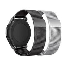 Galaxy watch strap For Samsung Gear S3 S2 band Frontier Classic 22mm 20mm milanese loop for Samsung galaxy watch Accessories s3 frontier classic 22mm 20mm stainless steel watch band milanese loop watch strap quick release pins for samsung gear s3 s2
