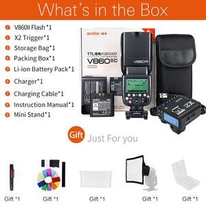 Image 2 - Godox V860II C V860II N V860II S V860II F V860II O TTL HSS フラッシュと X2T C/N/S/F/O トリガキヤノンニコン、ソニー、富士オリンパス