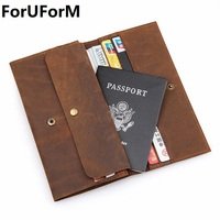 Men Passport Covers Solid Credit Id Card Folders Handmade Passports Holder Case Travel Accessories Passport Wallets
