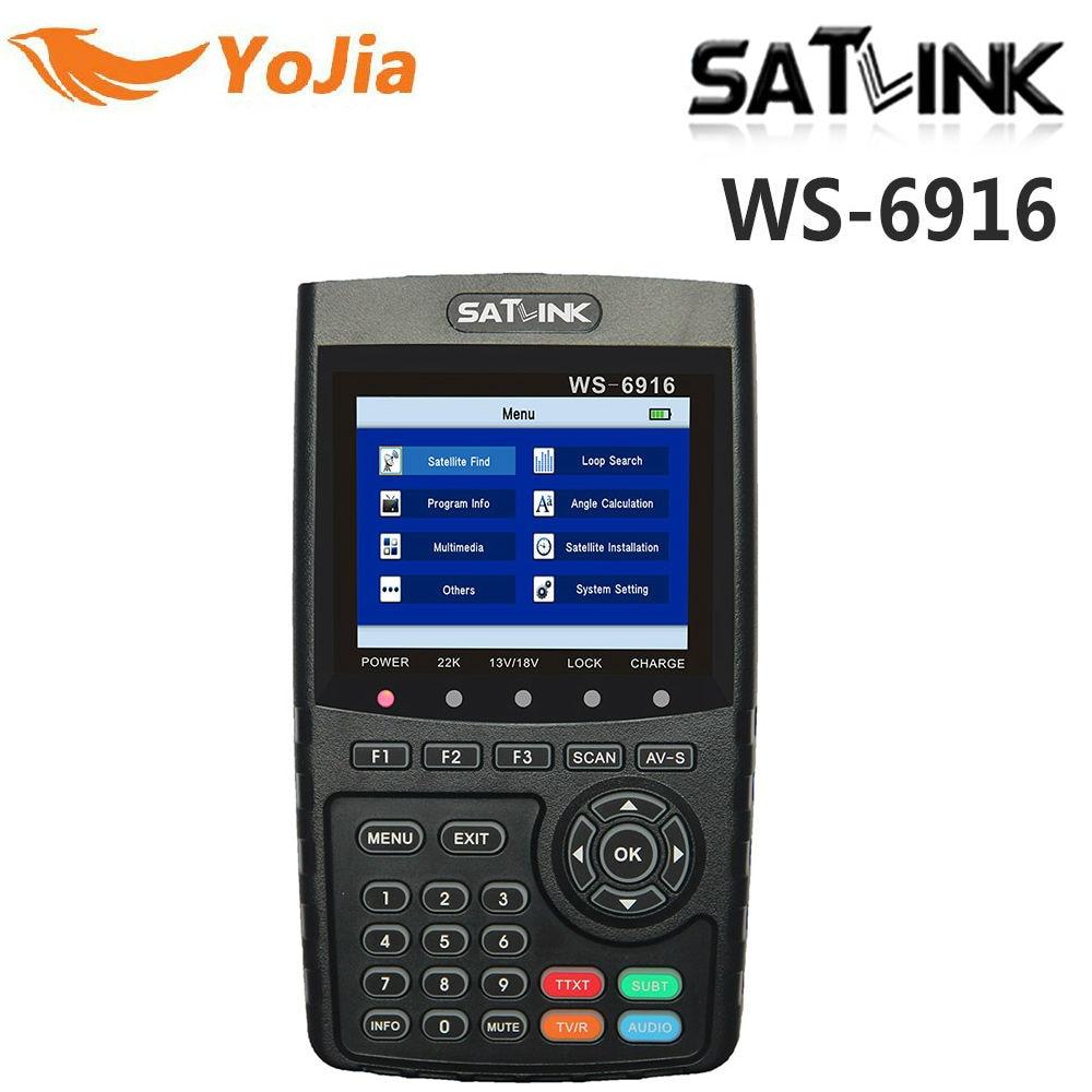 Yojia Оригинал Satlink ws-6916 Satellite Finder DVB-S2 MPEG-2/MPEG-4 Satlink 6916 Высокое разрешение Спутниковое метр TFT ЖК-дисплей Экран