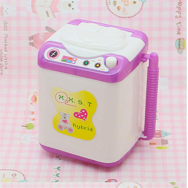 AOSST Doll Plastic Furniture Mini Toy washing machine for lols and Kellyes DIY Play House Accessories