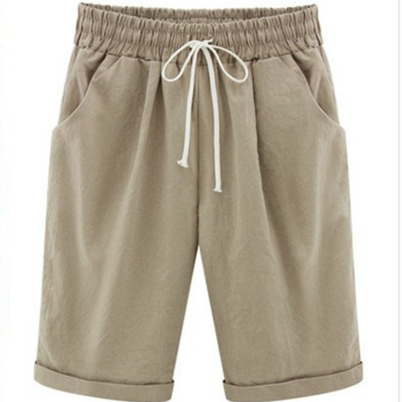 Knee Length   Capris   Trousers 5XL Summer Casual   Pants   Women's Thin Medium Short   Pants   Plus Size Loose Trousers Woman   Pants   6XL