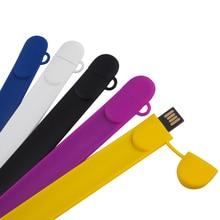 100% High Quality Wrist USB Flash Drive 64GB USB2.0 Pen Drive 32GB U Disk Flash Drive 16GB 8GB 4GB 2GB Memory Stick