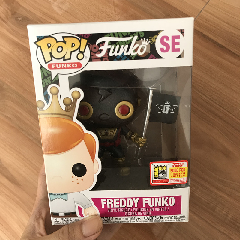 2018 Fundays SDCC Exclusive 5000pcs Funko pop Official Black Space Robot Freddy Funko Vinyl Action Figure Collectible Model Toy limited edition original funko pop dc universe green lantern the arrow vinyl figure collectible model toy with original box