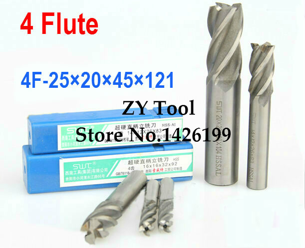 1pcs/set 25.0MM 4 Flute HSS&Aluminium endmill milling cutter CNC Bit Milling Machine tools Cutting tools.Lathe Tool,router bit