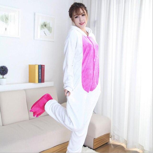 8e46ee041c Pijama de adulto onesie de manga completa con capucha poliéster Conjuntos  de pijama trajes de cosplay