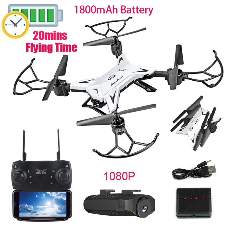2019 ENCRIER KY601S Pliable Drone rc quadrirotor avec 1080 P HD CAMÉRA Drone Professionnel 1800 batterie mah Selfie Pliage Dron