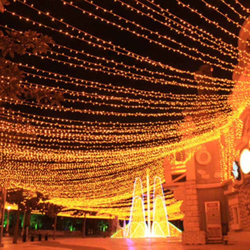 Us 52 08 16 Off 100m 600 Led String Fairy Lights Outdoor Lighting Christmas Holiday Garlands Wedding Party Garden Decoration In