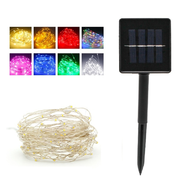 Solar Power String Lights 10M 100 LED 4.5V Waterproof Copper Wire Fairy Led Lamp for Outdoor Christmas Holiday Party Decoration