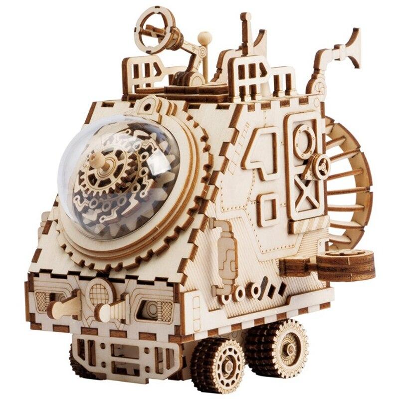 Robotime Creative bricolage 3D espace véhicule en bois Puzzle jeu assemblage jouet cadeau pour enfants adolescents adulte Am681