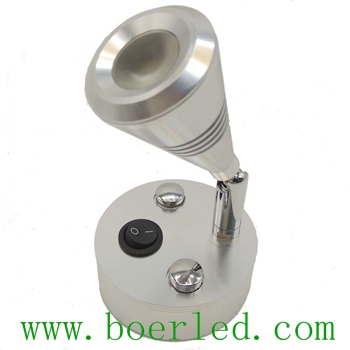 FREE SHIPPING 2W 12V 24V RV CARAVAN CAMPER WALL BEDSIDE LED LAMP