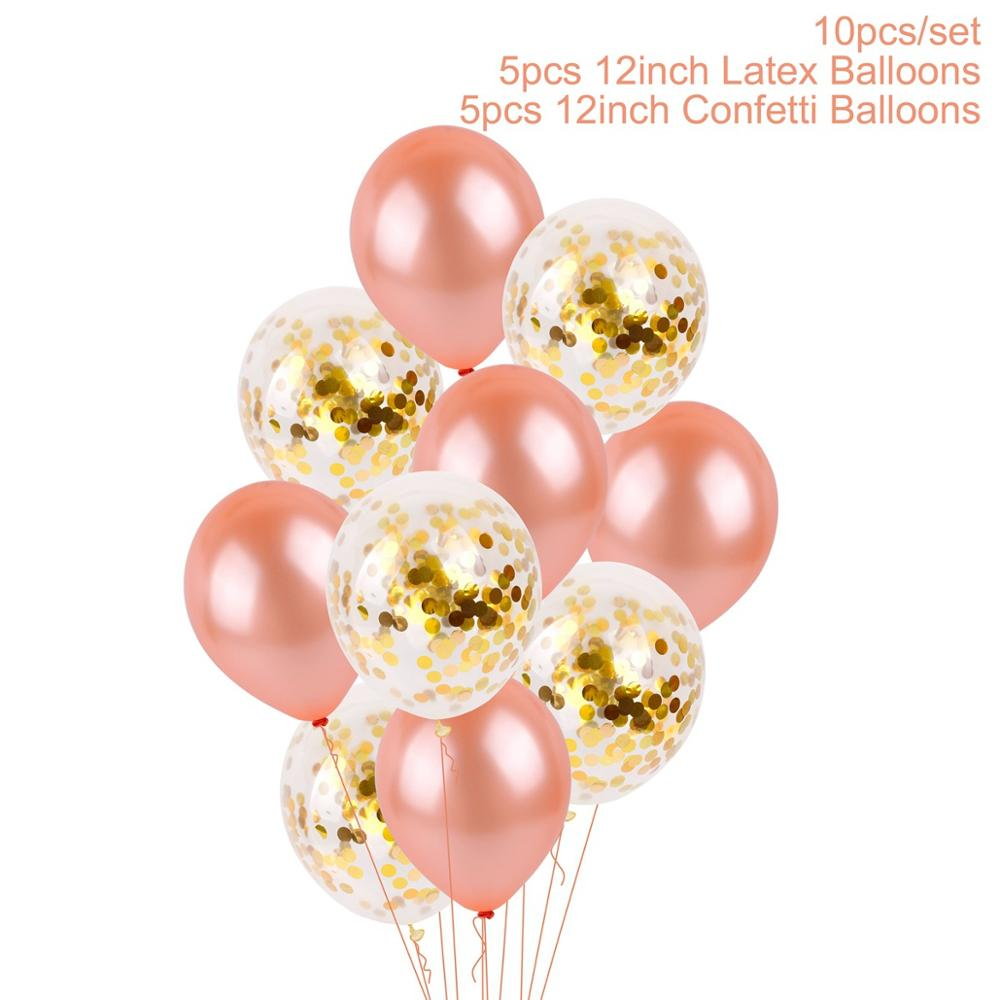 QIFU 32 Inch 21 Happy Birthday Balloons Rose Gold 21st Party Decorations Forever Years Decoration Supplies Holiday Gifts