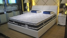 promotion contemporary genuine leather bed modern bedroom furniture made in China