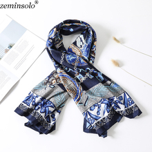130*130cm 2019 Spring Scarves For Women Bandana New Arrival Large Imitated Silk Satin Shawl Square Scarf