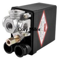 Air Compressor Pump Pressure Switch Control Valve 115PSI 8 Bar 4 Ports