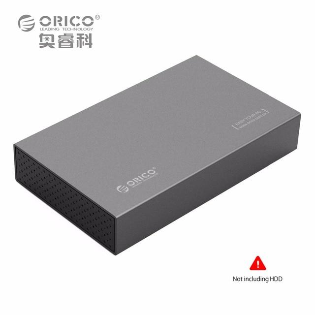 ORICO Alluminio 3.5 pollice USB 3.0 a SATAIII Enclosure Disco Rigido esterno fino a 8 TB 3.5 pollice HDD [supporto UASP]-grigio