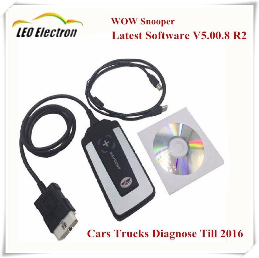 Prix pour 2017 Voiture diagnostics WOW SNOOPER Bluetooth V5.008 R2 Keygen Voiture/Camion de diagnostic-outil Nouveau WOW VCI Mieux Que TCS CDP