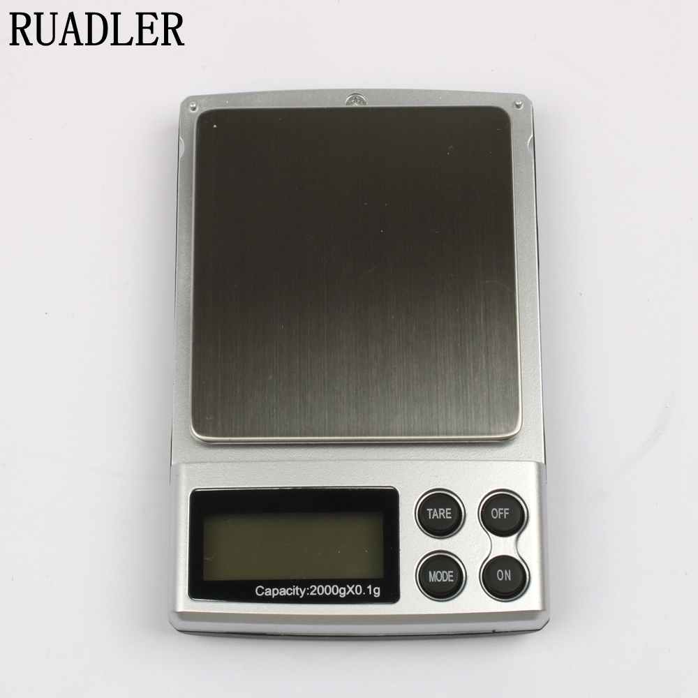 1pc 2000gx0.1g Pocket Electronic Digital Jewelry Scale, Weighing Kitchen Scales Grams Balance LCD Display Hot Sale LUBAN