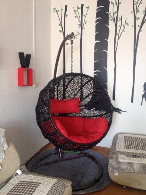 Hängesessel rattan korb faul hängematte schaukel outdoor indoor - hangesessel korb rattan