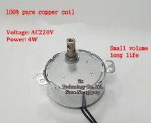 50TYZ 5 об./мин. AC медленно замедления не направленного микро-мотор 220 В 4 Вт постоянный магнит синхронный двигатель