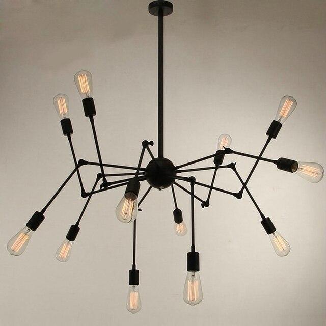 12 kopf Moderne Kunst Deco schwarz/weiß/rot spinne anhänger lichter ...