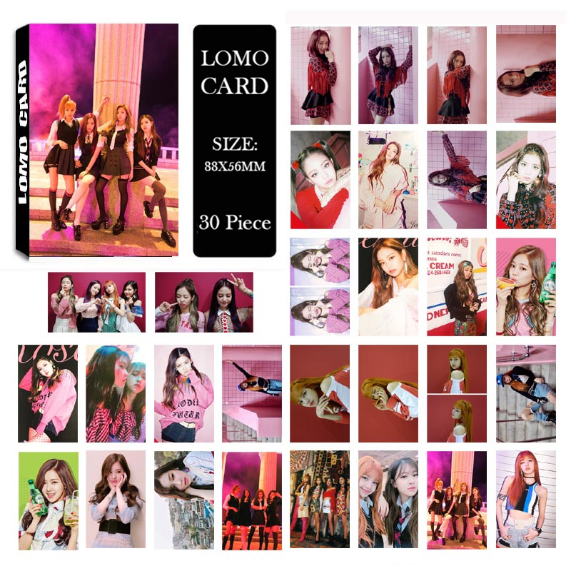 Youpop KPOP BLACKPINK As If It's Your Last Album LOMO Cards K-POP New Fashion Self Made Paper Photo Card HD Photocard LK498 [tool]kpop bts group bangtan boys young forever album lomo cards k pop fashion self made paper photo card hd photocard 0381