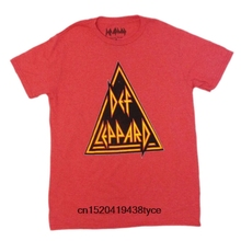 d1d089f846ff t shirt DEF LEPPARD Men's T-Shirt Small Red Heather Made looked Vintage  print- women