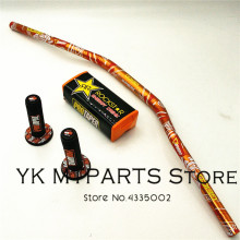 1-1/8 28.5mm Caken Orange Handlebar With Pit Pro Racing Pads For Dirt Bike MotorCross MX  CRF KLX Kayo